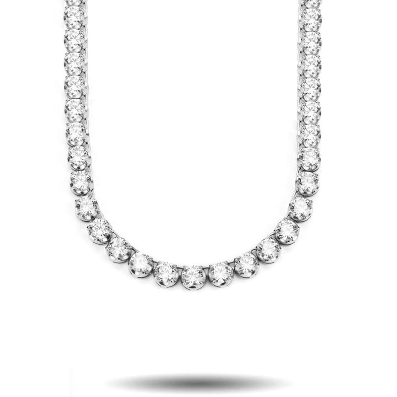 6mm Diamond Buttercup Tennis Chain in White Gold Gold Gods®