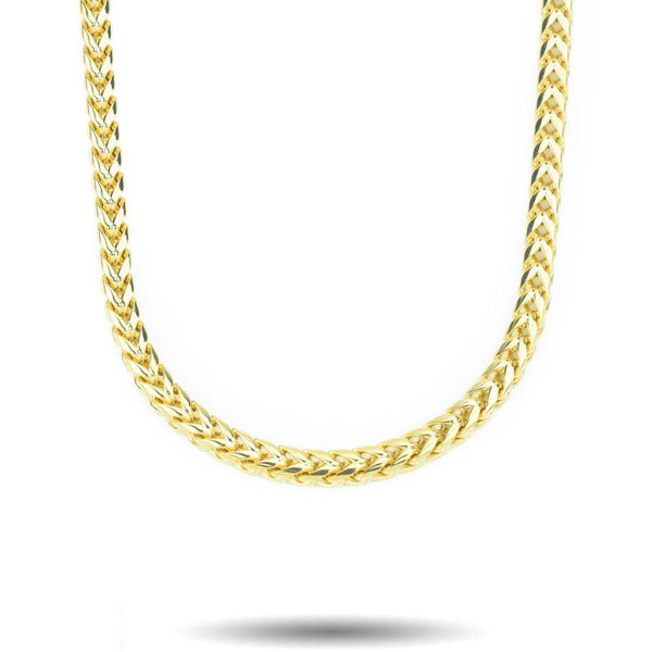 Curved Franco Gold Chain (6MM) Gold Gods® front view