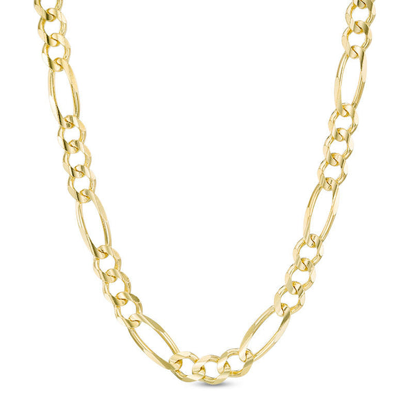 Women's Solid Gold Figaro Link Chain Gold Gods® Front