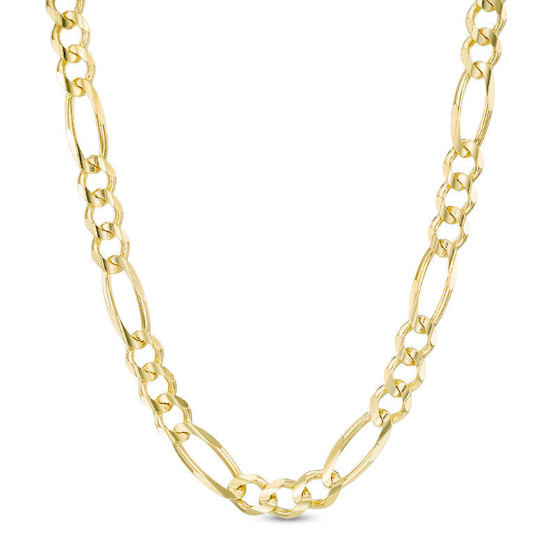 Men's Solid Gold Figaro Link Chain Gold Gods® Front