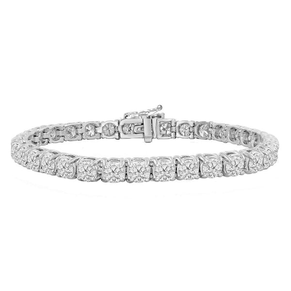 6mm Diamond Tennis Bracelet in White Gold Gold Gods® 1