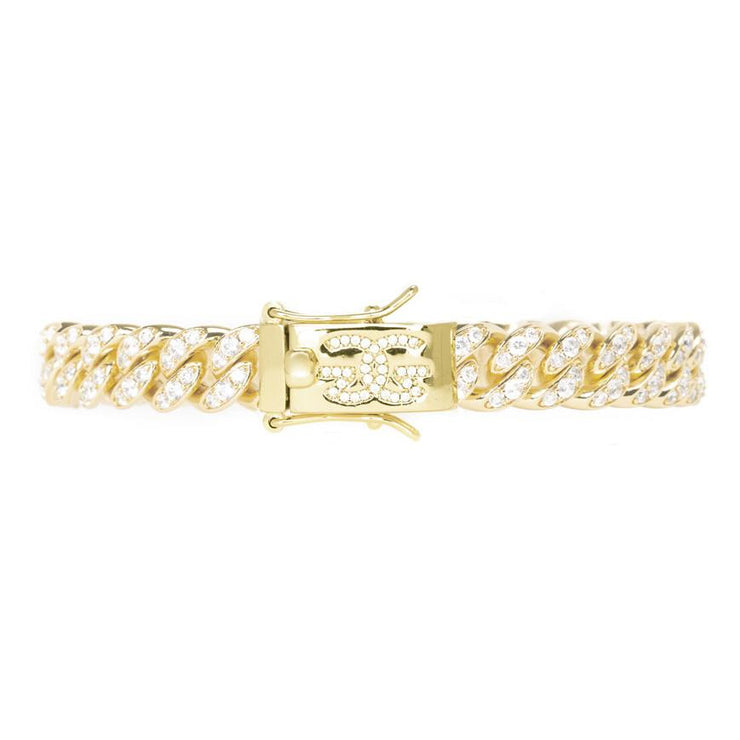 8mm Miami Diamond Cuban Link Bracelet