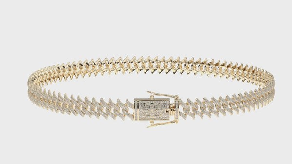 DIAMOND-SPIKED -LAUREL-CUBAN-LINK-CHAIN-18k-gold-plated-3d-360-video-gold-gods-womens-jewelry