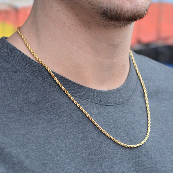 2 5mm Rope Chain The Gold Gods Jewelry