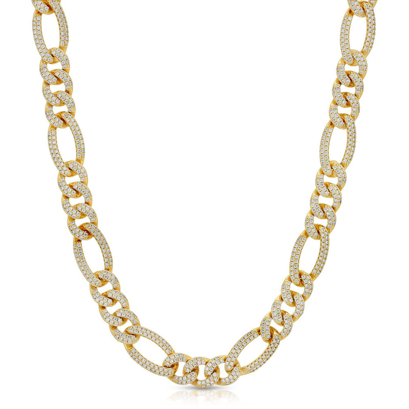 Diamond Figaro Link Chain