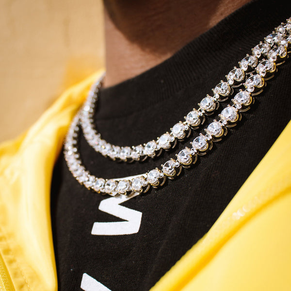 Diamond Buttercup Tennis Gold Chain 6mm Gold Gods® lifestyle  look