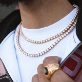 Diamond Tennis Gold Chain (4mm) Gold Gods® lifestyle look