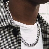 Diamond Cuban Link Chain in White Gold 10mm Lifestyle Look Gold Golds®