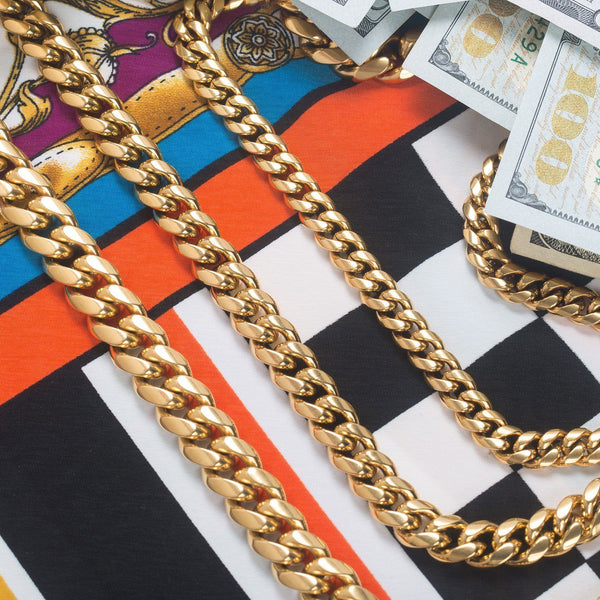 Solid Gold Miami Cuban Link Chain (Hollow)