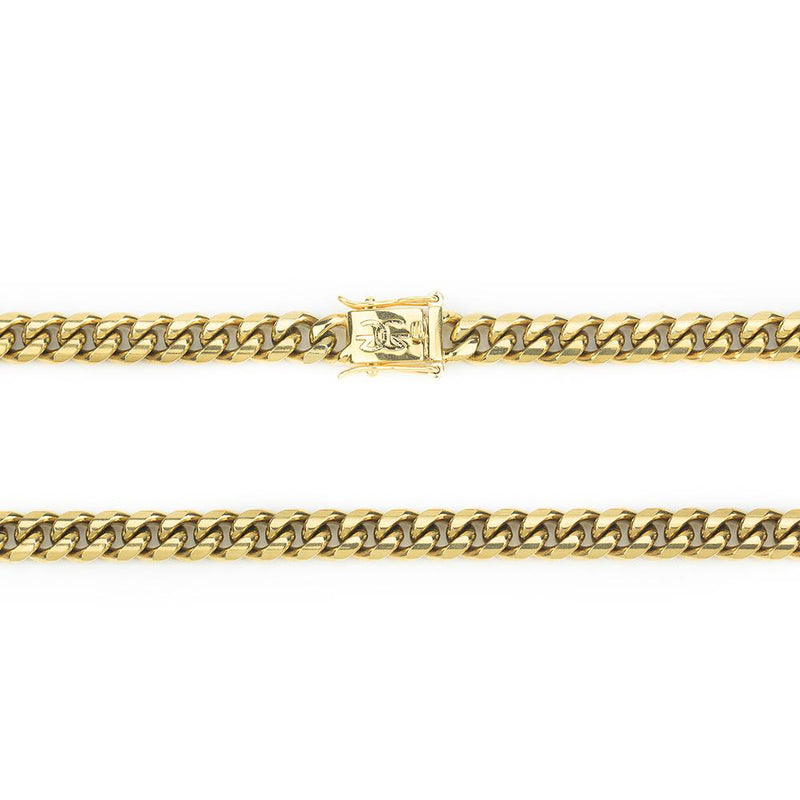 Miami Cuban Link Chain 8mm Gold Gods close up look