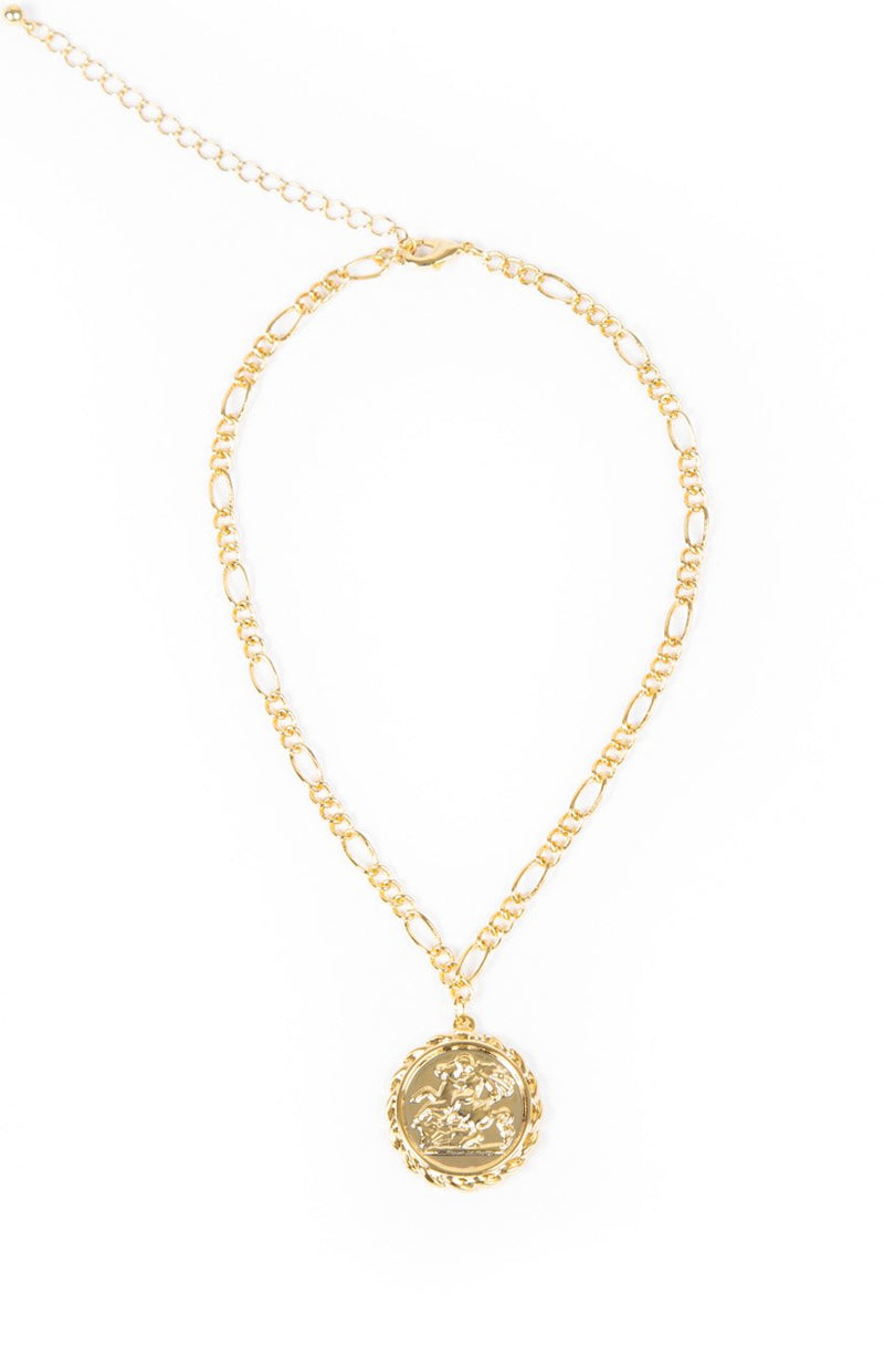 Women's Gold Goddess Ancient Coin Choker Necklace Lifestyle