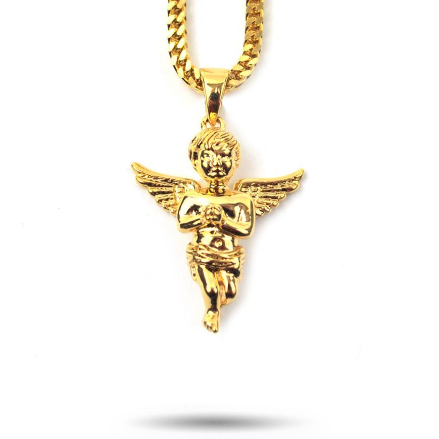 Micro Angel Piece Necklace
