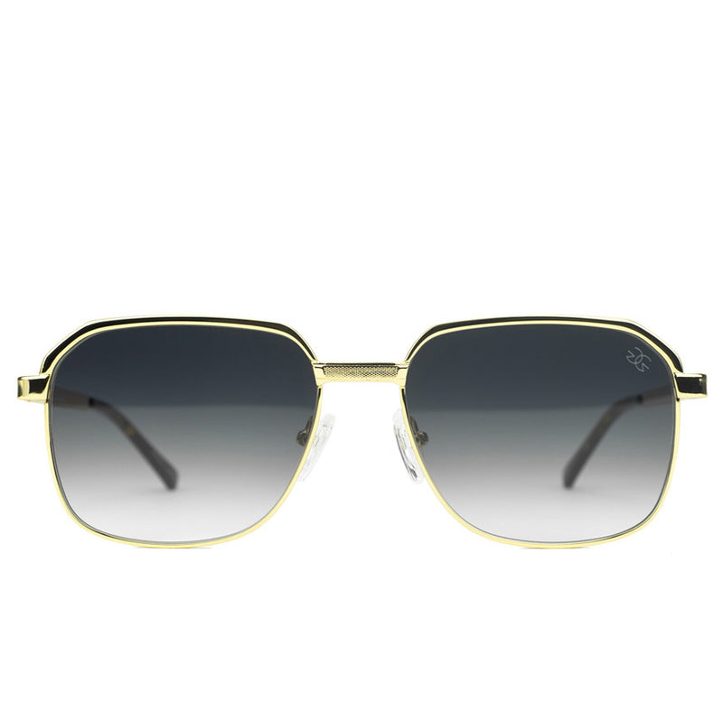 Apollo Black Gradient Sunglasses Gold Gods