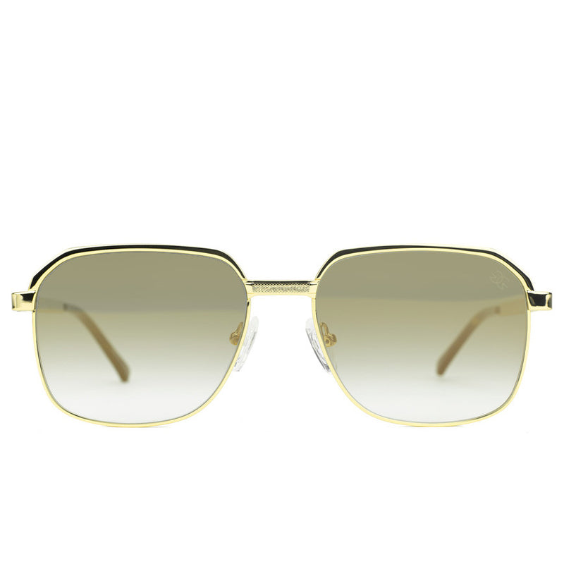 Apollo Brown Gradient Sunglasses Gold Gods