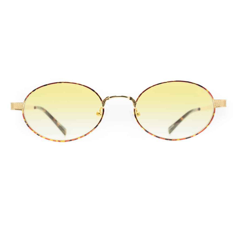 The Ares Sunglasses in Yellow with Tortoise Rim