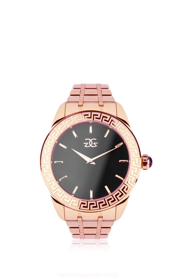 The Augustus Mens Rose Gold Watch front view