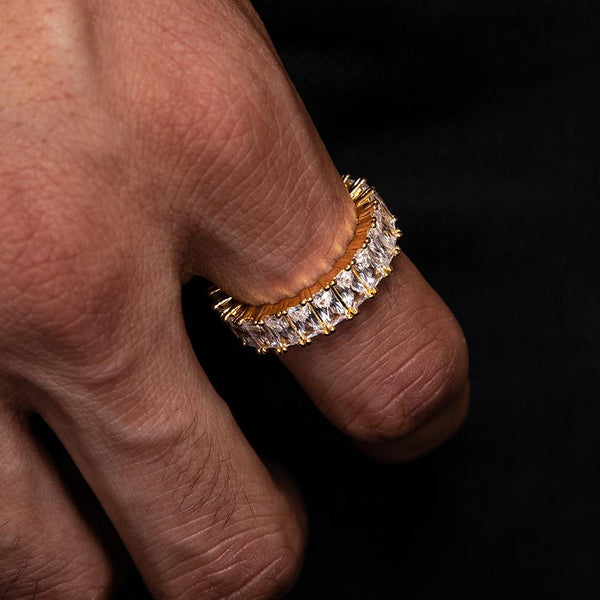 Diamond Baguette Eternity Ring Gold Gods® lifestyle view