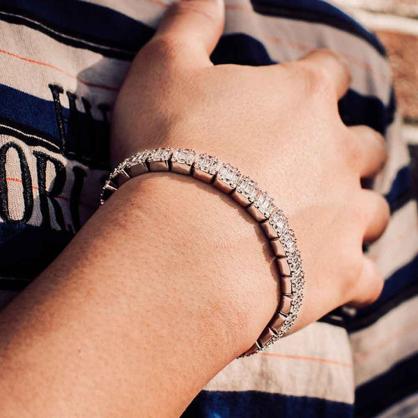 Diamond Baguette Tennis Bracelet Gold Gods® lifestyle look