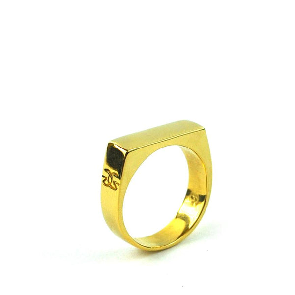 Women's Gold Bar Ring