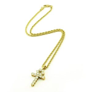 Diamond Ankh & Cuban Link Set