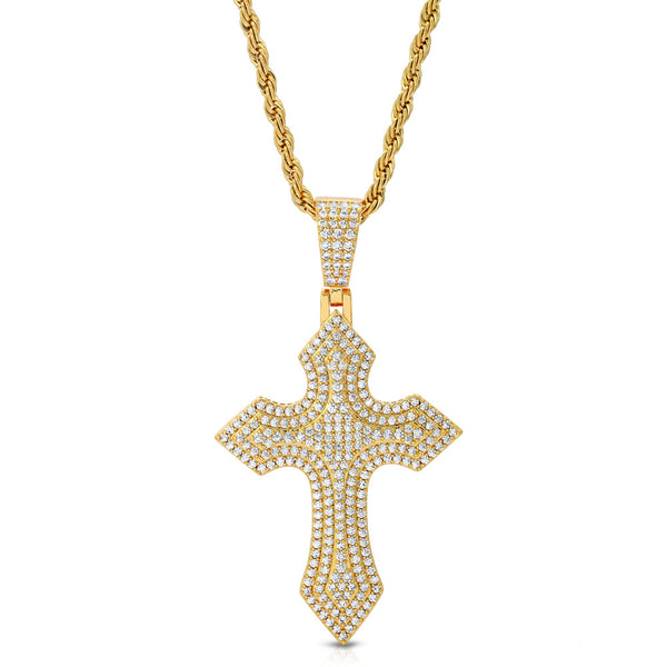 Diamond Royal Cross & Mens Rope Chain 2
