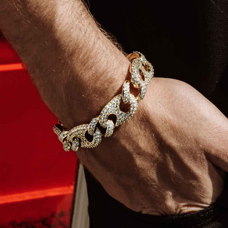 Diamond Gucci Cuban Link Bracelet