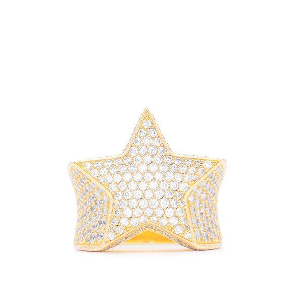 Diamond Star Ring in Gold Gold Gods® 2