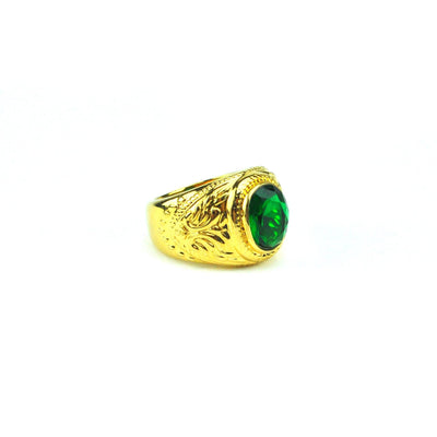 Gold Aura Emerald Ring