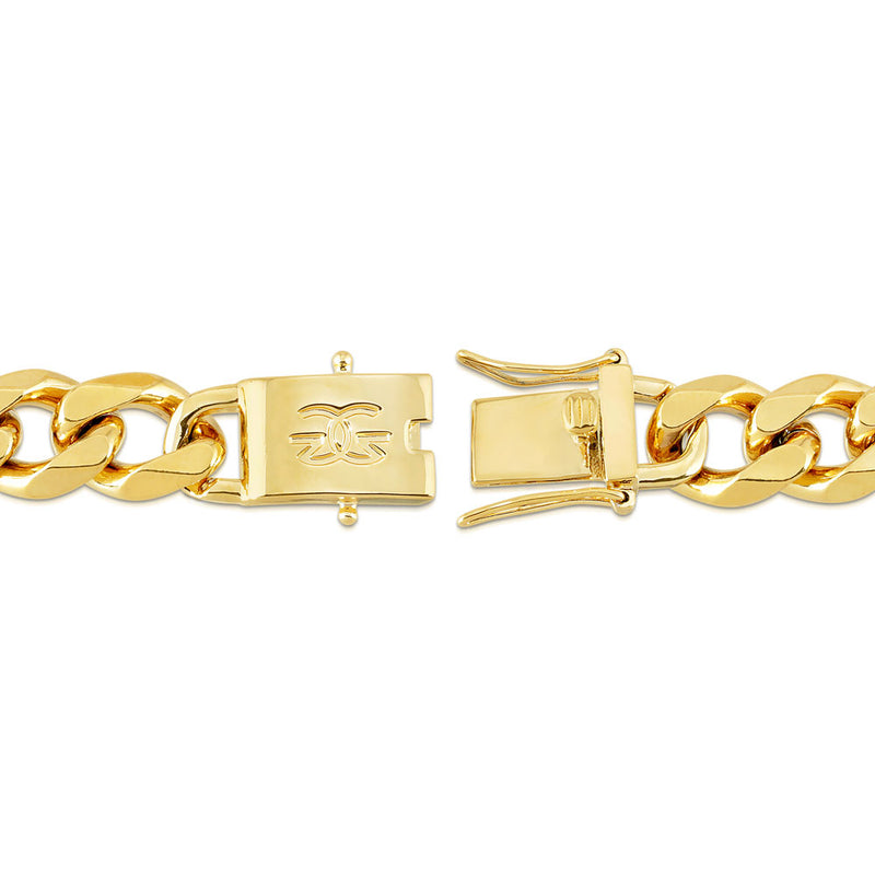 Cuban Link Chain Flat Edge in Gold Gold Gods® 4