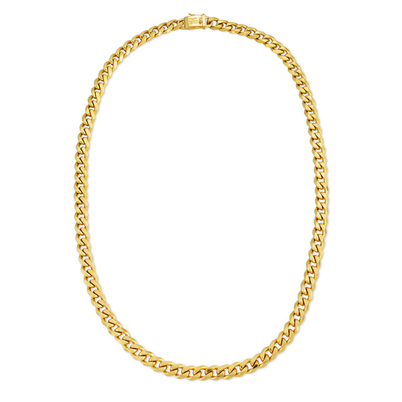 Cuban Link Chain Flat Edge in Gold Gold Gods® 6