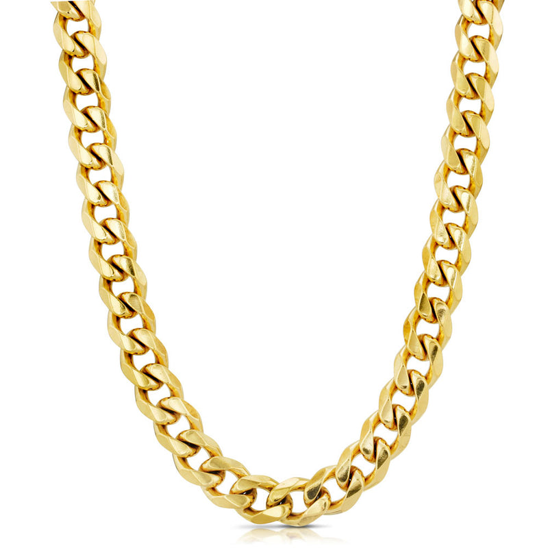 Cuban Link Chain Flat Edge in Gold Gold Gods® 3