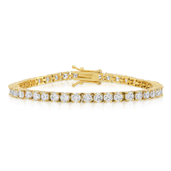 Diamond Tennis Bracelet in Gold 4mm Gold Gods® 1