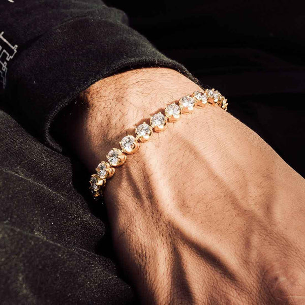 6mm Diamond Buttercup Tennis Bracelet in Gold Gold Gods® Lifestyle