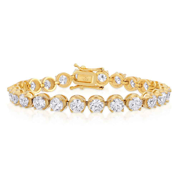 6mm Diamond Buttercup Tennis Bracelet in Gold Gold Gods®
