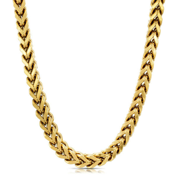 6mm Franco Box Chain Gold Gods® front view 3