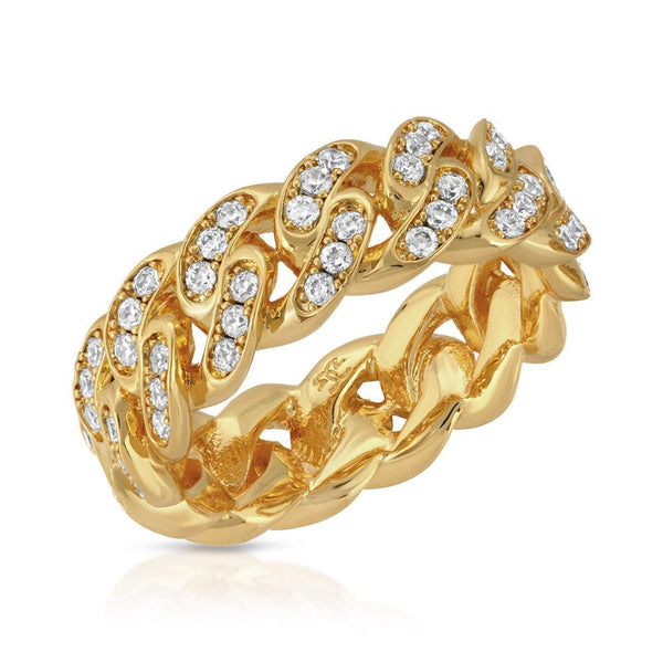 6mm Gold Diamond Cuban Ring Gold Gods®