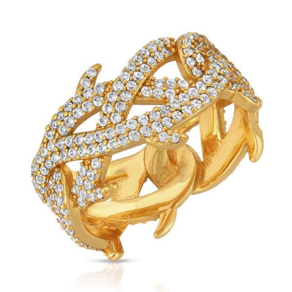 Gold Diamond Crown of Thorns Ring Gold Gods 1