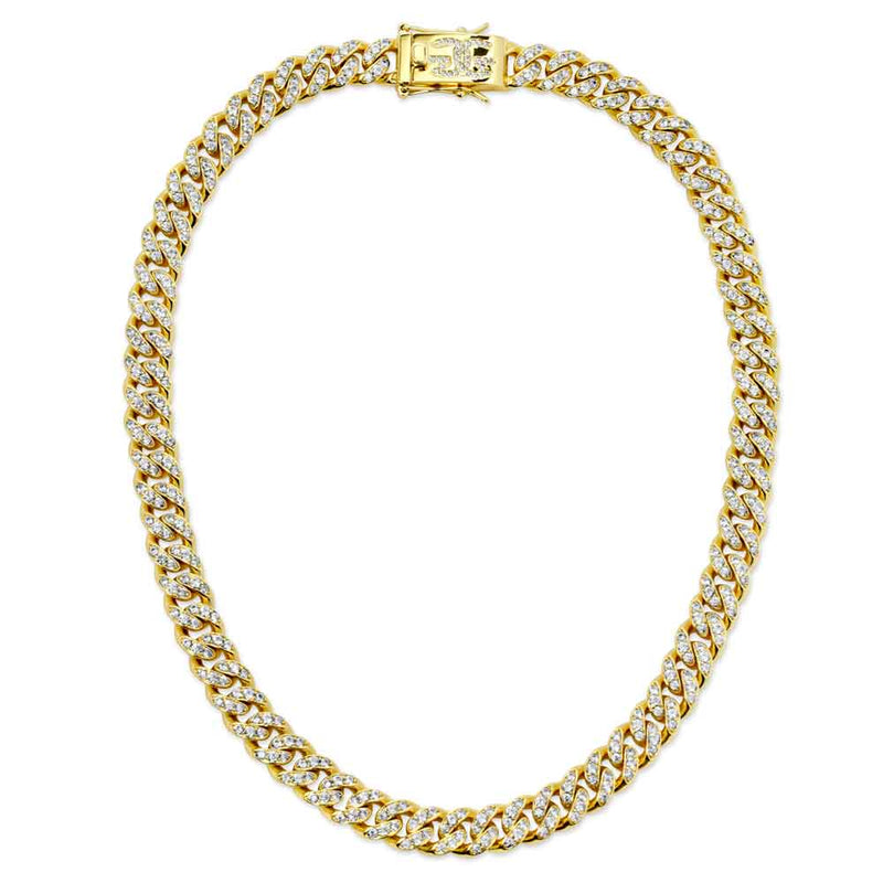Diamond Cuban Link Chain 10mm lifestyle look gold gods® full