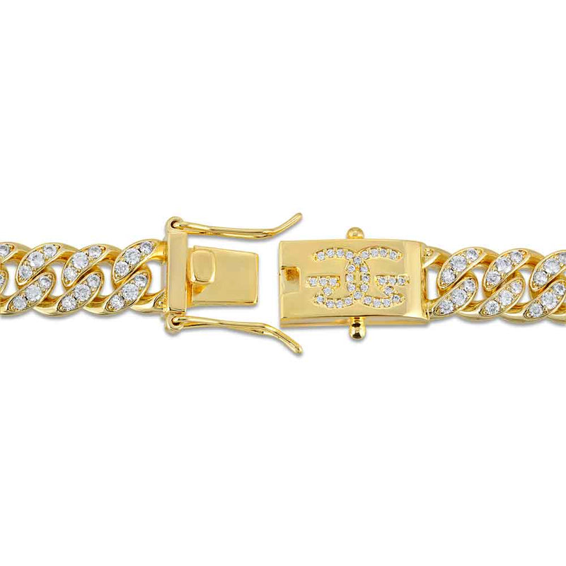 Diamond Cuban Link Chain 10mm lifestyle look gold gods® clasp