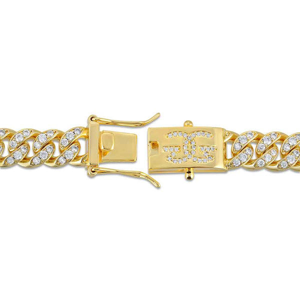 Miami Diamond Cuban Link Bracelet 10mm Gold Golds® clasp