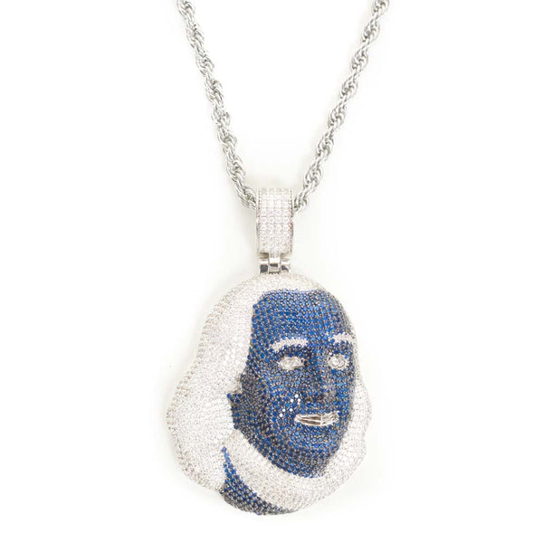 Gold Gods Blueface Chain Pendant Hip Hop Bling Front