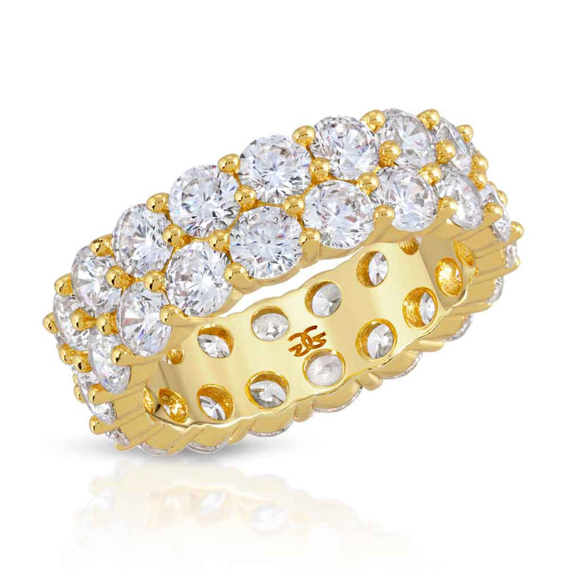 Diamond Dual Eternity Ring Gold Gods® Front