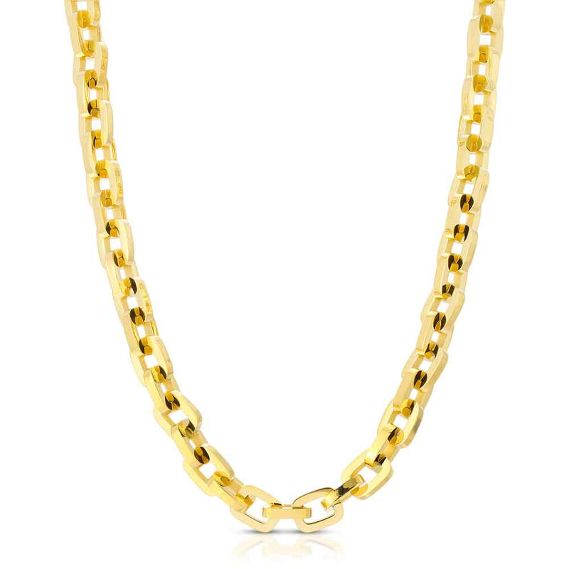 Gold Hermes Rolo Link Chain 18 22 Inches Gold Gods