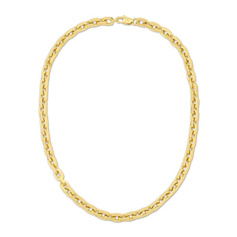 Gold Hermes Rolo Link Chain 18 22 Inches Gold Gods 2