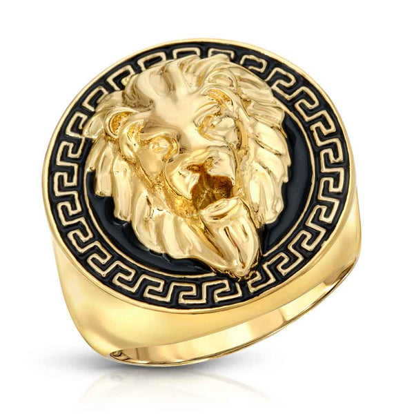 Gold Grecco Lion Ring