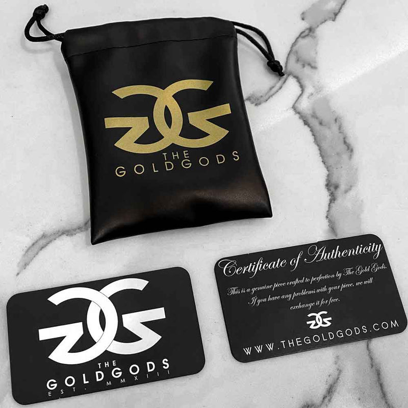 Straight Edge Diamond Cuban Ring Gold Gods®  Packaging