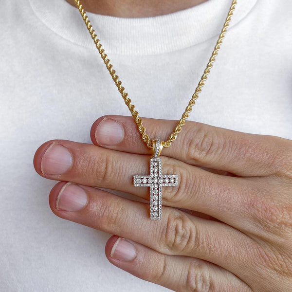 10k Solid Gold Diamond Cross Pendant (.35 CTW)  | Golds Gods® 1