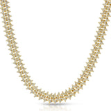 Diamond Cuban Spiked Chain Gold Golds®  lifestyle look front view 3