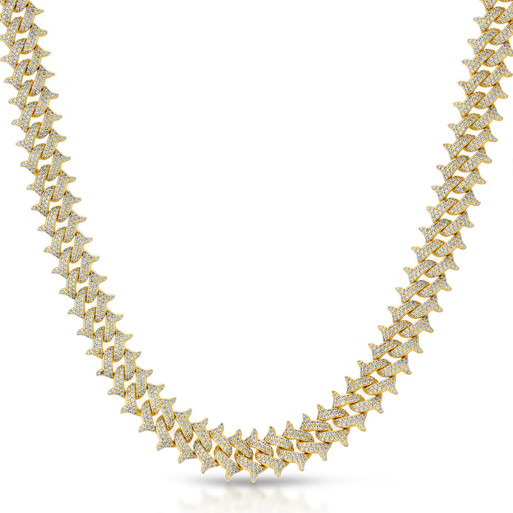 Diamond Spiked Cuban Chain