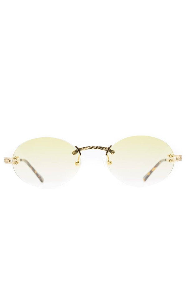 The Helios Sunglasses in Yellow Gradient
